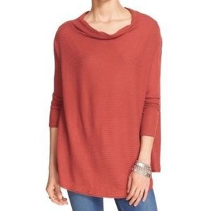 We The Free People-Ribbed Split Open Back Pullover